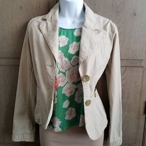 Banana Republic   Khaki Utility Button Up Jacket